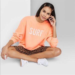 NWT Coral Surf Sweatshirt